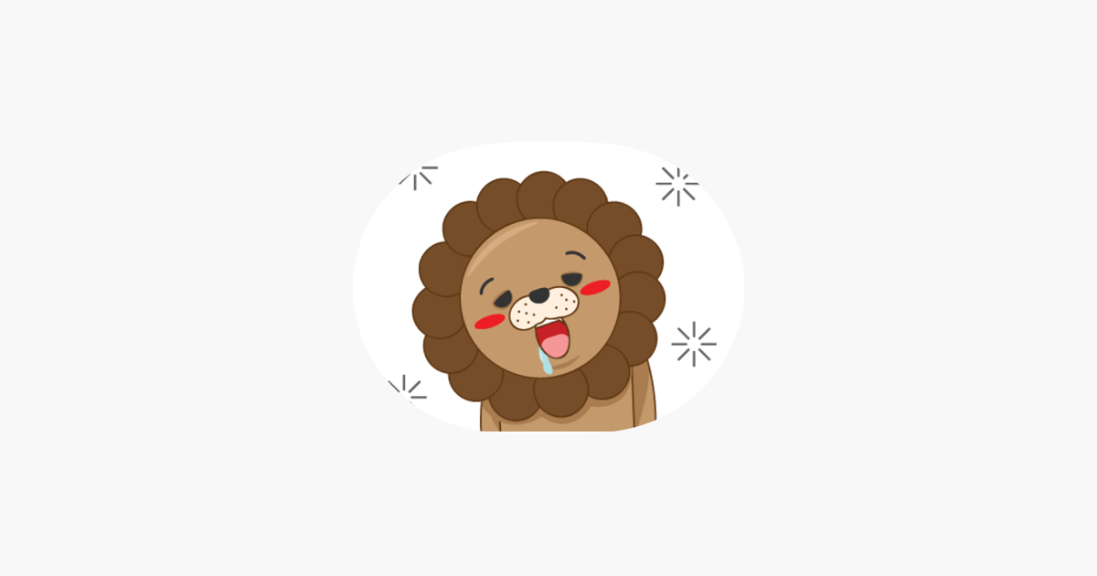Cute lion cub sticker