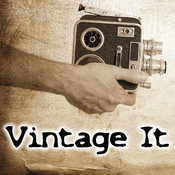 Vintage it - Vintage Camera filters plus old fashioned 8mm photo effects editor vintage vinyl records