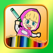 Painting and drawing masha and bear edition