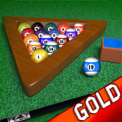 Billiards Pool Table Unlimited 8-ball Tournament : Hit the black ball - Gold Edition