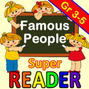 Reading Comprehension - Famous People - Grade 3,4,5 - Super Reader