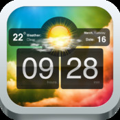 Nightstand- Alarm Clock with Sleep Timer, Weather and Colorful Wallpapers