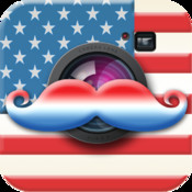 American Mustache Booth - Free Patriotic Photo App