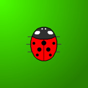 Touch the Ladybug, free and easy game for babies.