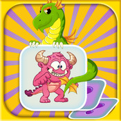 Fantasy Match and Memory Game Free - improve kids learning, concentration and brain training skills with focus on creative imagination. fantasy milan skills