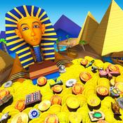 Pharaoh`s Coins - Gold Pharoh Ancient Token Dozer