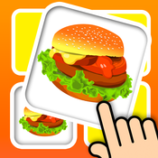 Memo match food card 3D - Build your kids brain with tasty food and snack