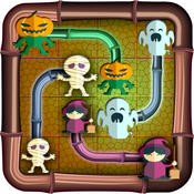 A happy halloween flow brain puzzle game