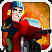 Cartoon Bike Race: Motorcycle Road Chase Racing Free