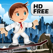 City Skate Free HD - Race through the City on Your Long Board