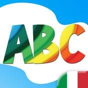 ABC per Bambini: Impara Lettere, Numeri e Parole con Animali, Forme, Colori, Frutta e Verdura
