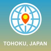 Tohoku, Japan Map - Offline Map, POI, GPS, Directions japan physical map