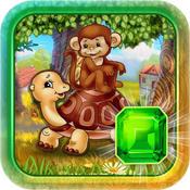 Matching Jungle Funny Animals