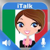 iTalk Italien! conversationnel: enregistre et lecture, écoute et apprends à parler rapidement, des expressions du vocabulaire et des tests pour les francophones