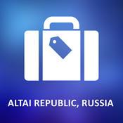 Altai Republic, Russia Offline Vector Map