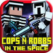 Cops N Robbers 3D Wars in the Space Multiplayer with skin exporter for Minecraft