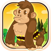 Baby Gorilla Banana Fight - Shoot Nasty Hippos Mania fight mania
