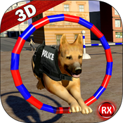 Police Dog Training Stunts training simulator pocketaed