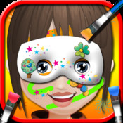 Baby face art salon - Free game for girls kids, face decor painting fashion & tattoos