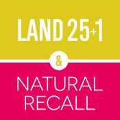 EXHIBITheAPP: LAND25+1 & NATURAL RECALL graphic