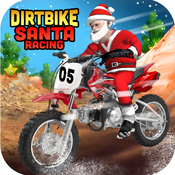 Dirt Bike Santa Racing