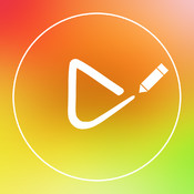 Doodle on Video Square - Draw Color Doodles Text and Mustache on Videos for Instagram