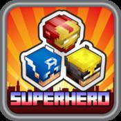 Match Superhero Head Block Skins - Block Craft World Edition block