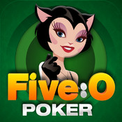 Five-O Poker: Free Live Heads Up Card Game Play 5 poker hands at once