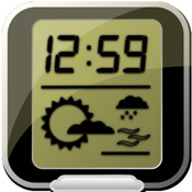 Dock Clock - ☀☾⌚ - alarm with weather and moon phases