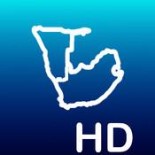 Aqua Map South Africa HD - Marine GPS Offline Nautical Charts for Fishing, Boating and Sailing