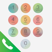 Phone in Color - Colorful Keypad Background For Your Native iOS 7 & 7.1 iPhone