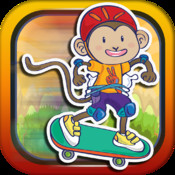 Banana Skate Monkey Rush - Speedy Maze Runner Survival Game