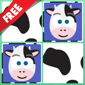 Play with Farm Animals Cartoon Free- ABC Memo Game for toddlers in preschool, daycare and the creche