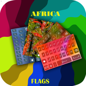 A Cool Custom Keyboard: Africa Flags and Photo Backgrounds