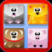 Match the Animals : Free Preschool Educational Shapes Learning Games for Kids and Toddlers