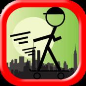 Stickman Skateboard Hill Ride Pro