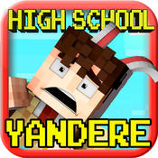 HUNTER HIGH SCHOOL ( Yandere Edition ) - Survival BLOCK Mini Game with Multiplayer pocket edition