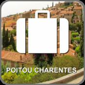 Map Poitou Charentes, France (Golden Forge)