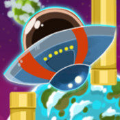 A Flying UFO - Zoom Through Space