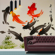 Japanese Wall Paintings - Bonsai Style art & Ukiyo-e Wall Designs Galllery wall metal art