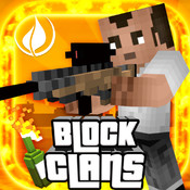 Block Clans - Survival Pixel World Gun in 3D Block clans