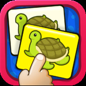 Match Them Together HD Lite by KLAP - A great memory exercise for kids. They learn how to recollect and identify the order of pictures of animals, fruits, vegetables. toys.