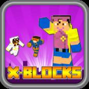 "X-Blocks 2D Hero Skin Finding X Shield - "" Craft Blocks Edition """