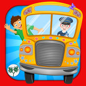 Wheels On The Bus Nursery Rhymes & Sing Along Karaoke Song For Kids