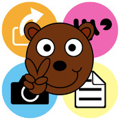 Peace Bear Round Note finance note photo