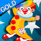 Angry clown shooting color balloon - Gold Edition