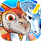Puzzles dragons & unicorns puzzle game collection for kids and toddlers