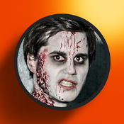 Scary Zombie Booth - Make-Up Your Face Like An Ugly Monster And Share The Picture
