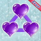 A hearts dot matching saga:connect the color matching hearts