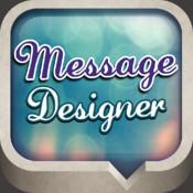 Message Designer - Textured Bubbles & Color Text & Font/Size/Emoji